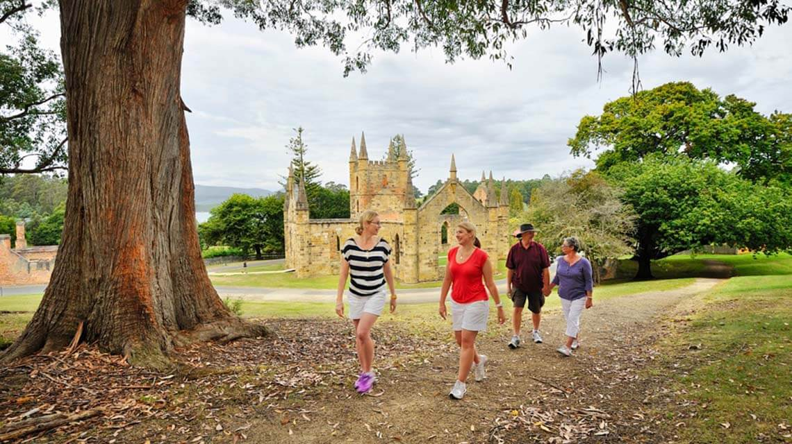 historic site couples Port Arthur TAS my nrma local guides