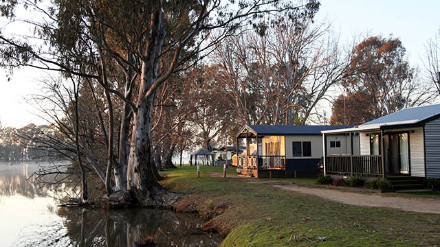 Waterfront Cabins Cohuna Waterfront Holiday Park NRMA Parks and Resorts VIC
