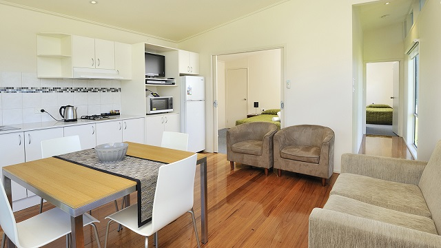 Living Area and Chairs Eastern Beach Holiday Park NRMA Parks and Resorts VIC
