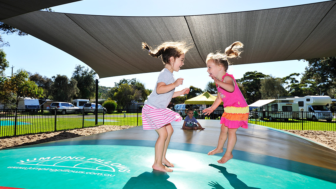 Jumping Pillow Eastern Beach Holiday Park NRMA Parks and Resorts VIC
