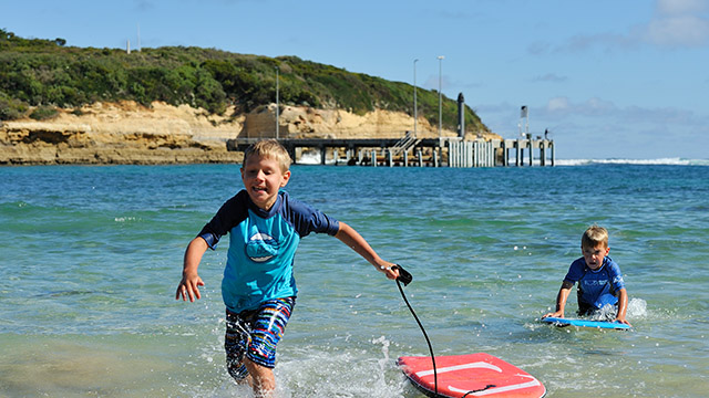 children swimming Port Campbell Holiday Park Victoria my nrma local guides