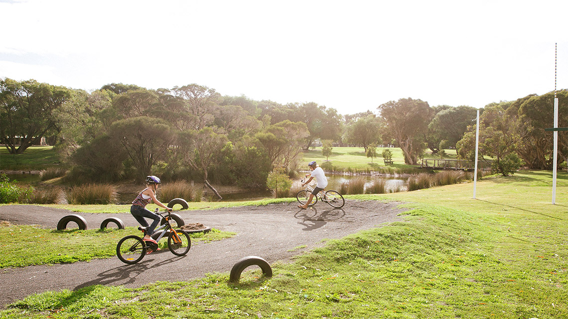BMX track Busselton Holiday Park NRMA Holiday Parks and Resorts WA