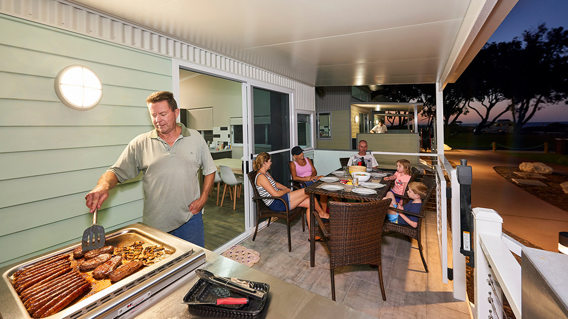 BBQ Famioly RAC Cervantes NRMA Holiday Parks and Resorts WA