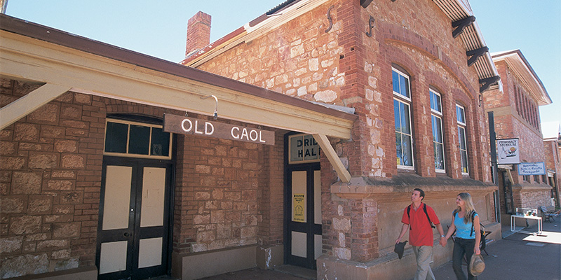 Old Gaol Coolgardie Adelaide to Perth in 9 days my nrma road trips