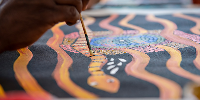 Maruka Arts Dot Painting Adelaide to Darwin in 14 days my nrma road trips