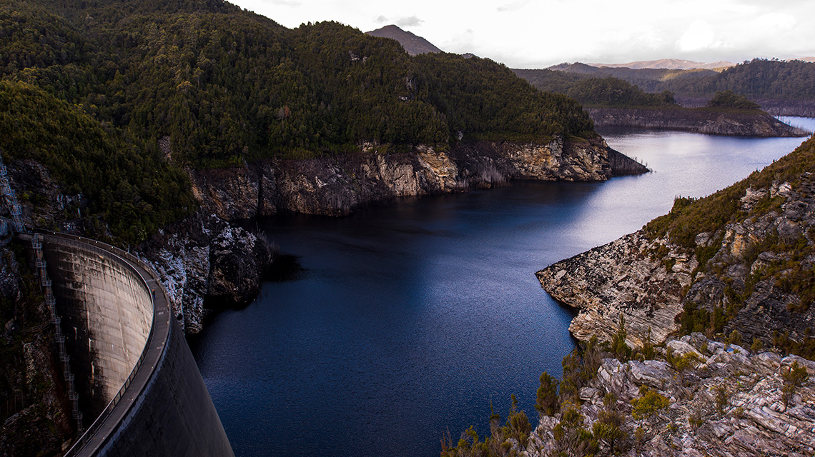 Gordon Dam Around Tasmania in 12 days my nrma road trips