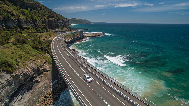 Sea Cliff Bridge Clifton Hume Highway my nrma road trips