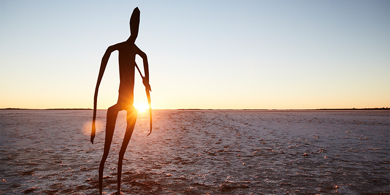 Anthony Gormley Sculptures Nullarbor my nrma road trips