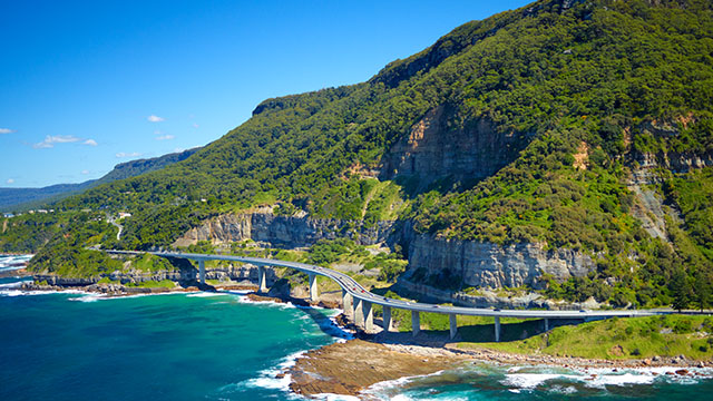 Sea Cliff Bridge Sydney to Kiama my nrma road trips