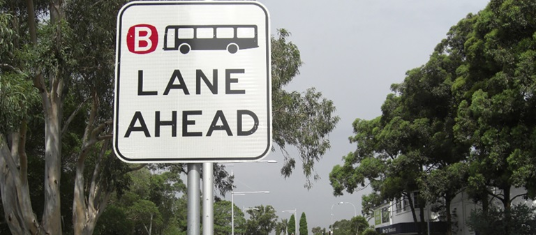 Who can drive in bus lanes in NSW?