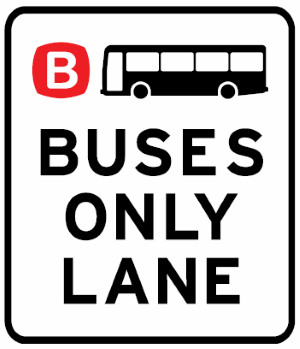 Buses only lane