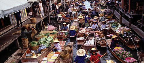 Vietnam floating markets