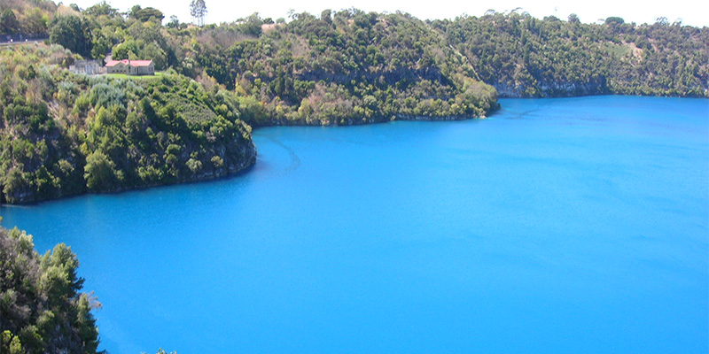 Blue Lake Mount Gambier Melbourne to Adelaide in 6 days my nrma road trips