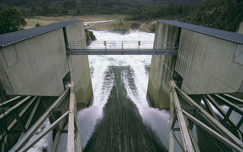Hydoroelectric Dam, Alpine Way, Snowy Mountains
