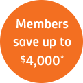 Members save up to 4000