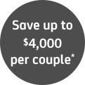 Save up to $4000 per couple