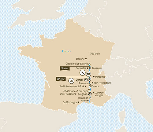 Scenic France river cruise itinerary